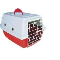 Caixa de Transporte Dog Lar Vermelha Pequena