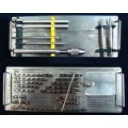 Caixa Ortopédica Básica Placas e parafusos tamanho 1,5mm