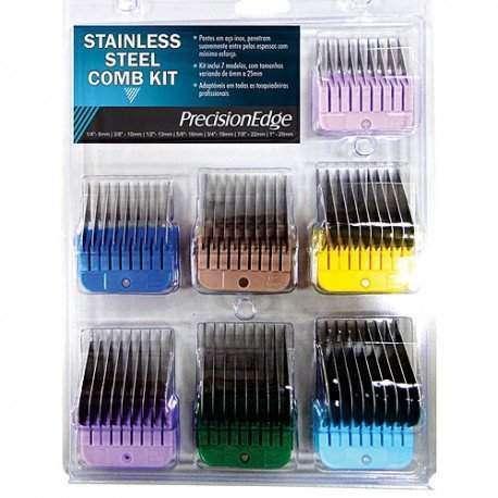 Kit de pentes adaptadores Precision Edge aço inox 7 peças