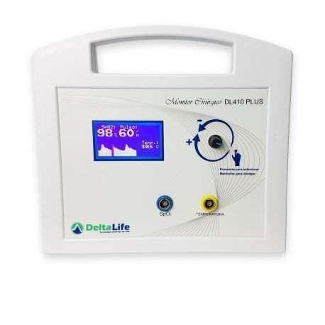 Oxímetro de Pulso Veterinário DL410 Vet com temperatura