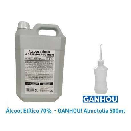 Álcool Etílico Hidratado 70% INPM 5 Litros