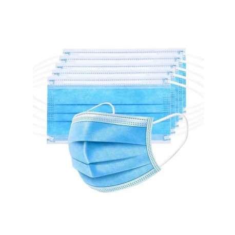 Máscara Cirúrgica Tripla Azul Caixa com 50 unidades