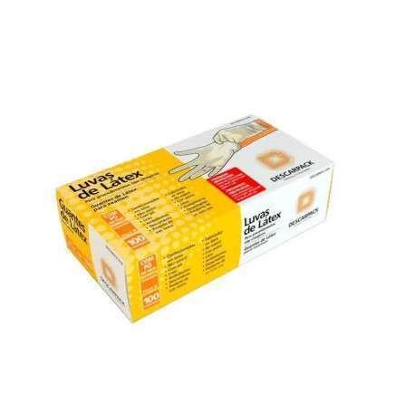 Luva Latex Para Procedimentos Não Cirúrgicos P C/100 Unidades